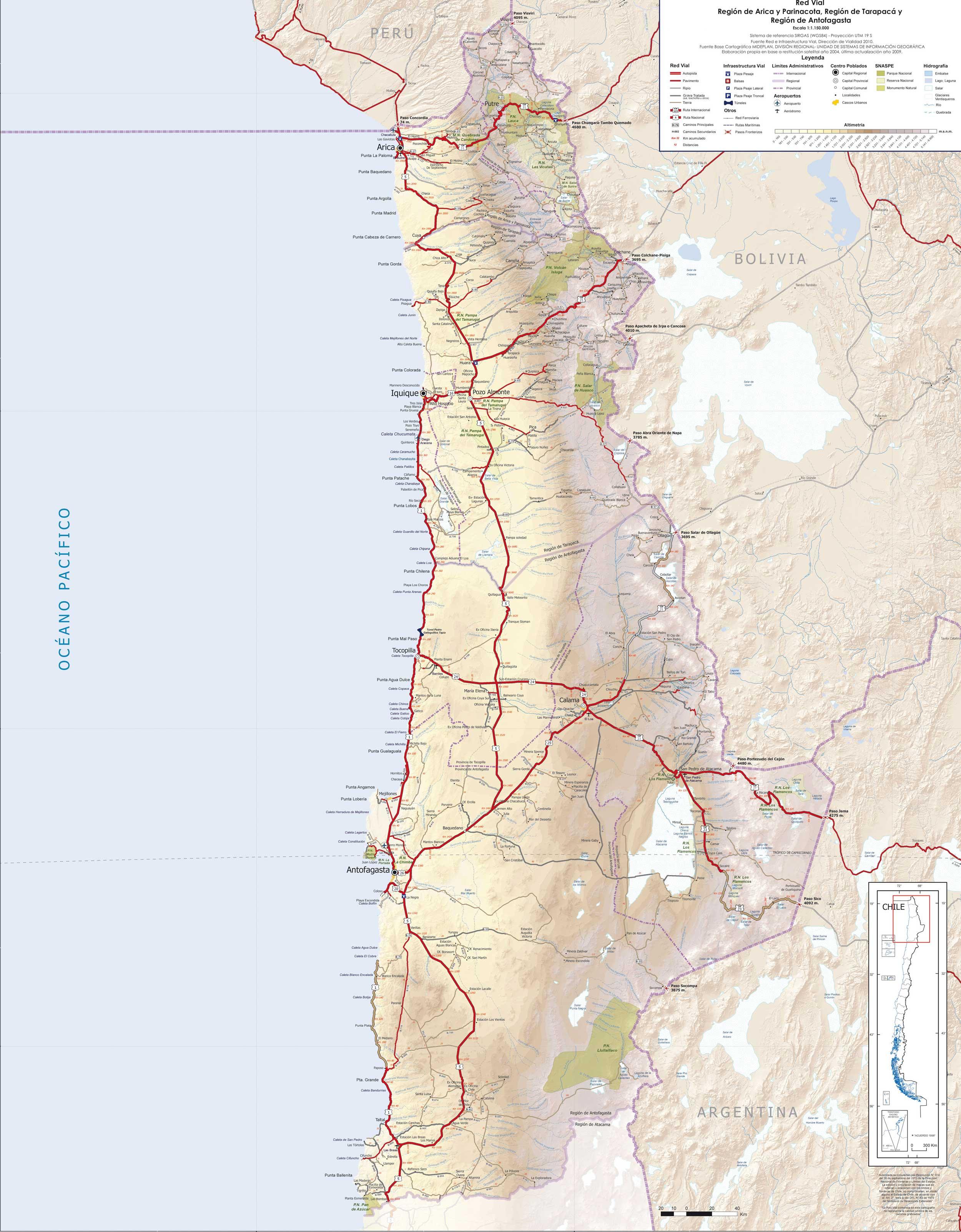 Mapas Ruteros De Chile